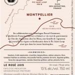 Contre-Etiquette Rose Chartier 2015