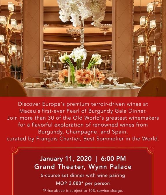 "Wynn Hosts First ""Pearl of Burgundy Gala Dinner"" in Macau"