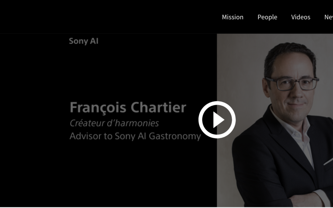 "Sony AI Launches Gastronomy Flagship Project with the Release of the ""Chef Interview Series"", in collaboration with François Chartier"
